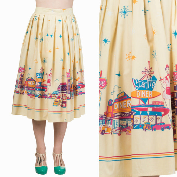 Fifties Style USA Diner Skirt by Banned Apparel - Minimum Mouse