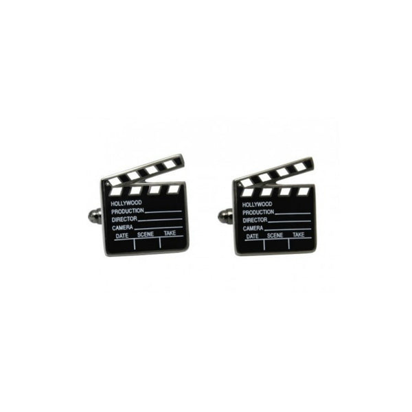 Film Director Clapperboard Cufflinks - Minimum Mouse