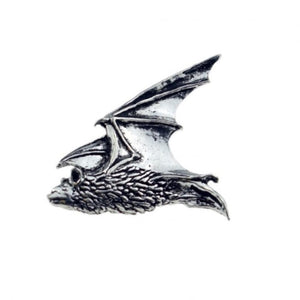Flying Bat Pewter Lapel Pin Badge - Minimum Mouse