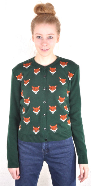 Fox Face Cardigan - Minimum Mouse