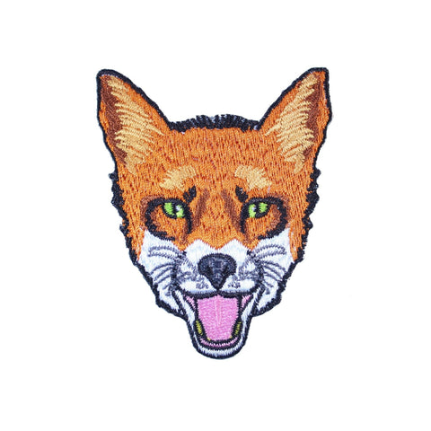 Fox Face Iron On Patch - Minimum Mouse