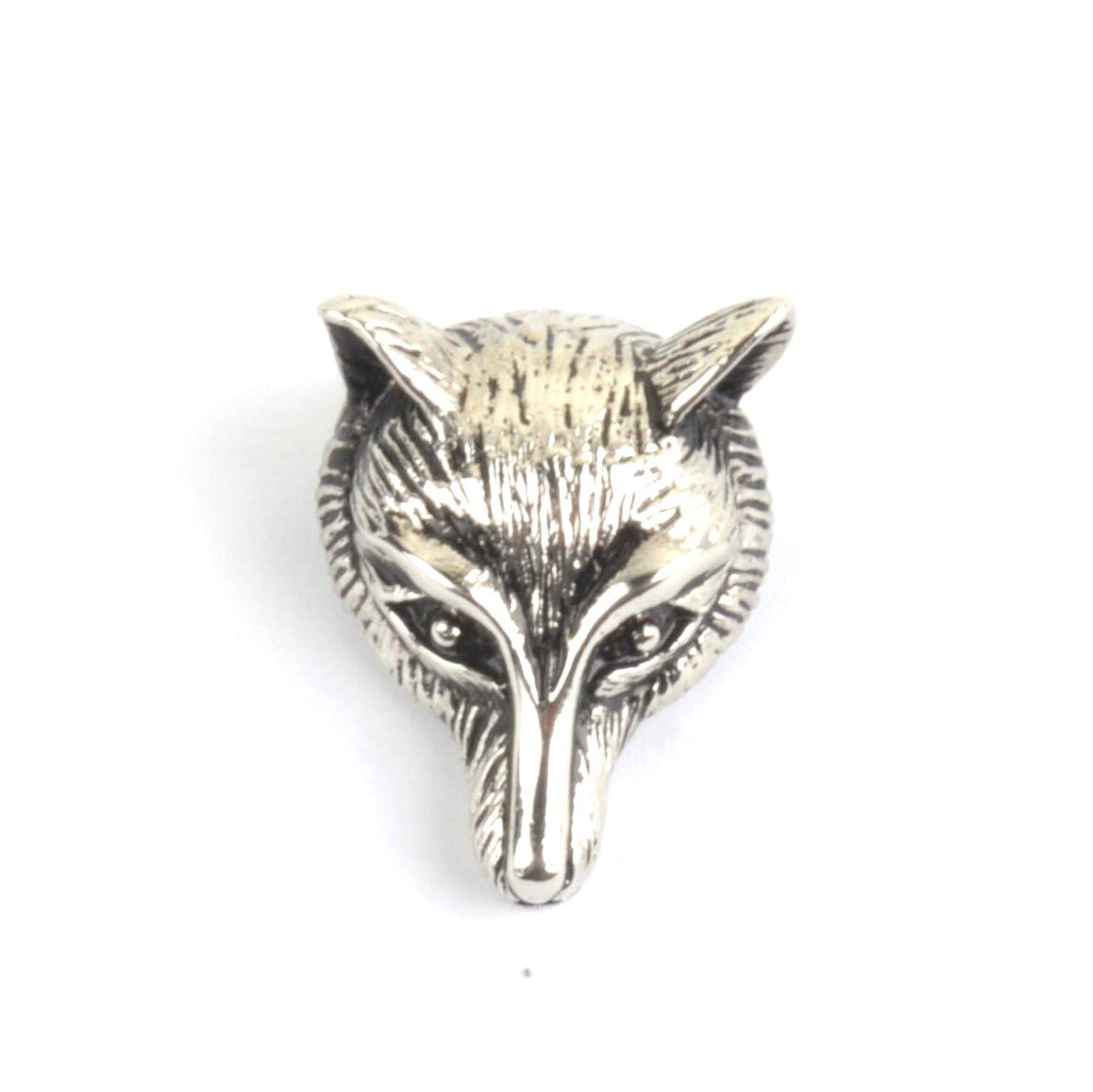Fox Head Pewter Lapel Pin Badge - Minimum Mouse