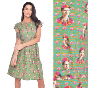Frida Print Dress by Run and Fly - Minimum Mouse