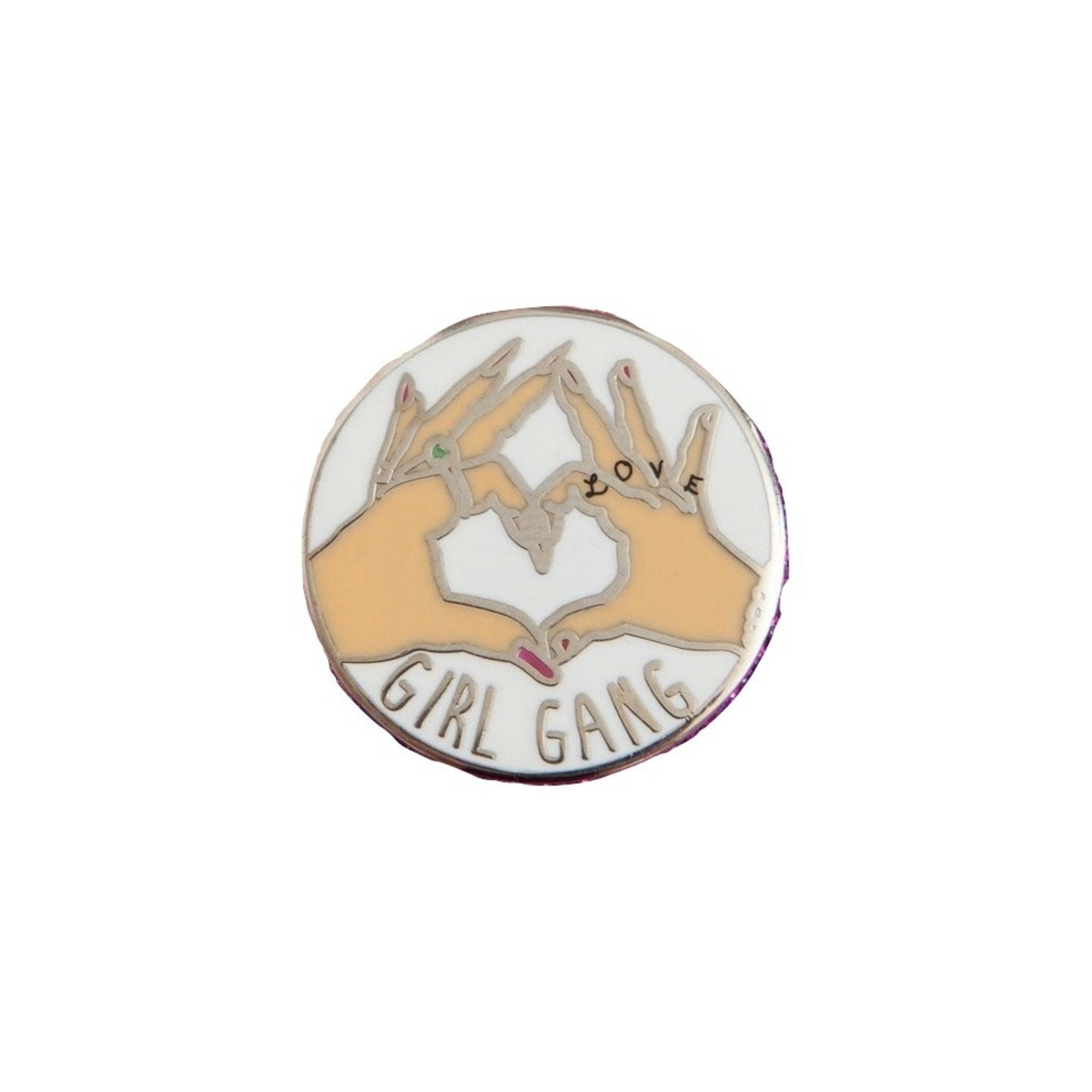 Girl Gang Lapel Pin Badge - Minimum Mouse