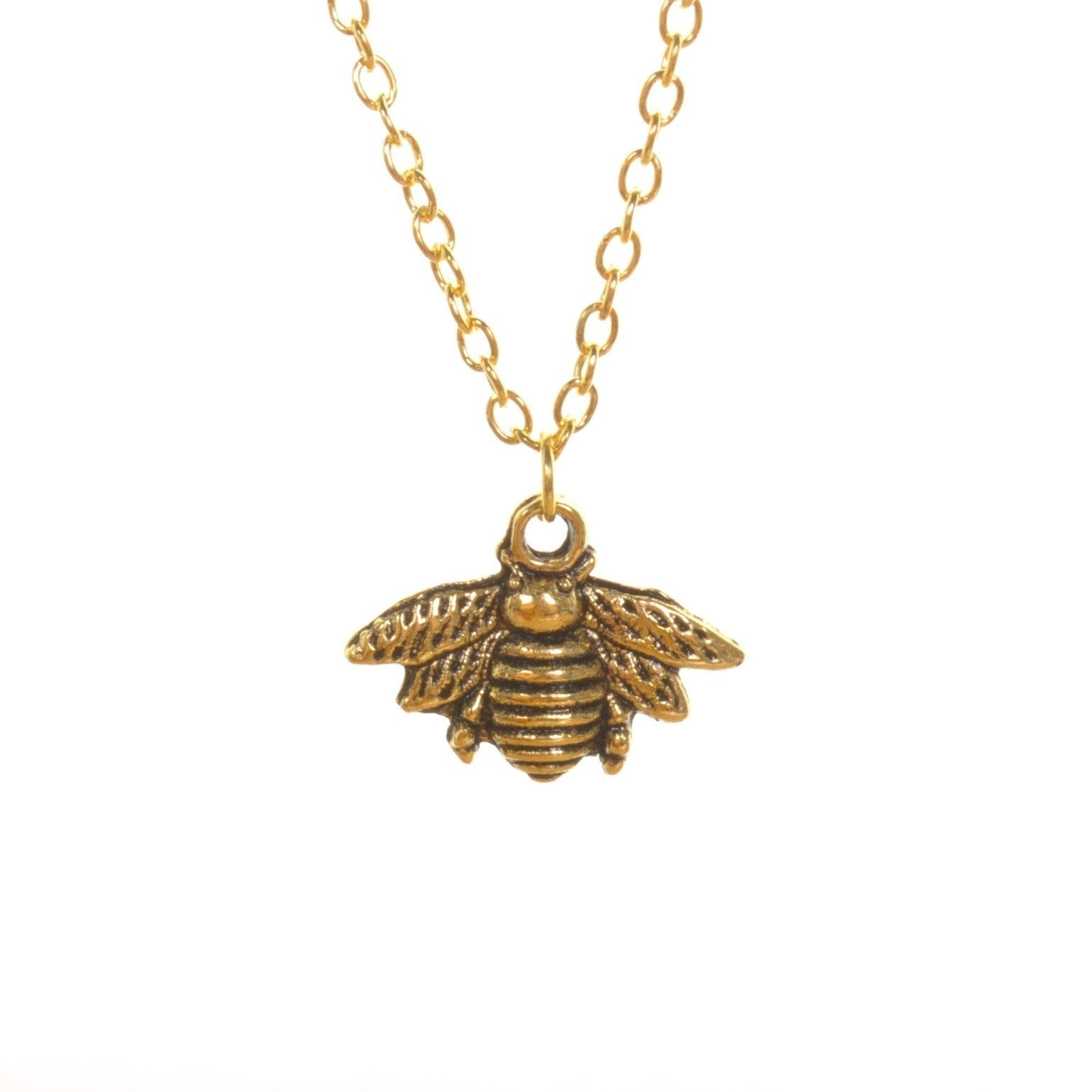 Gold Bee Pendant Necklace - Minimum Mouse