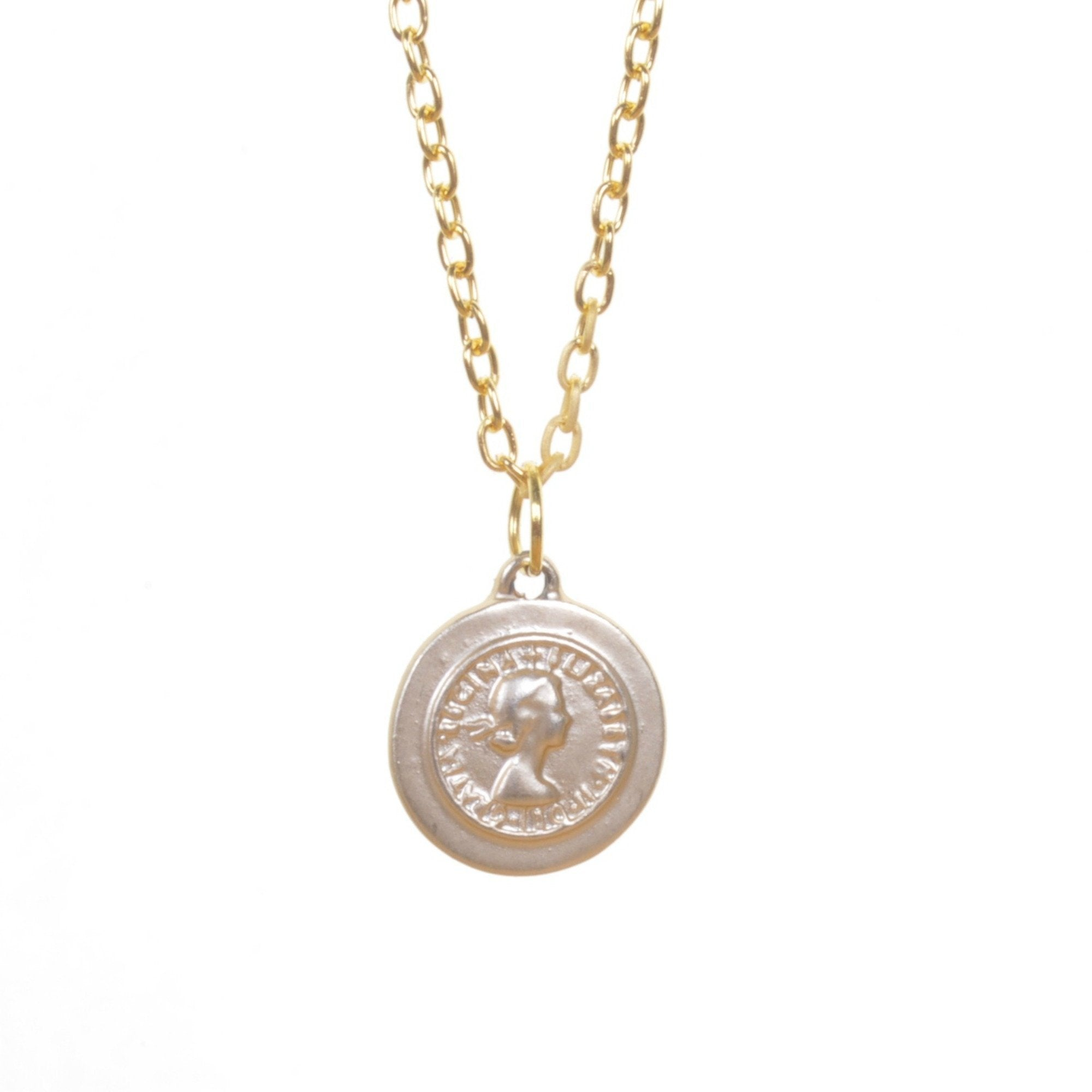 Gold Coin Pendant Necklace - Minimum Mouse
