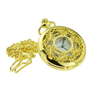 Gold Filigree Quartz Pocket Watch - Minimum Mouse