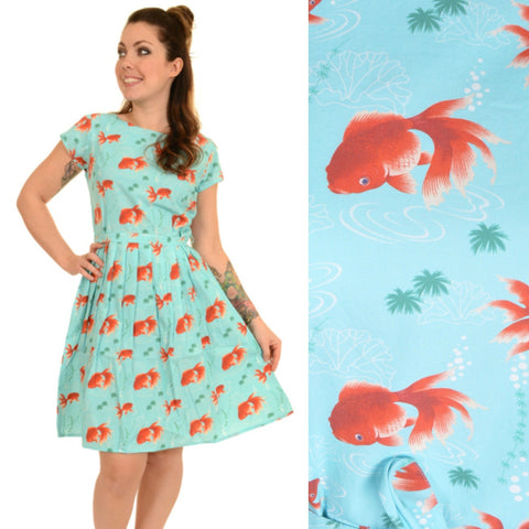 Goldfish Print Dress by Run and Fly - Minimum Mouse