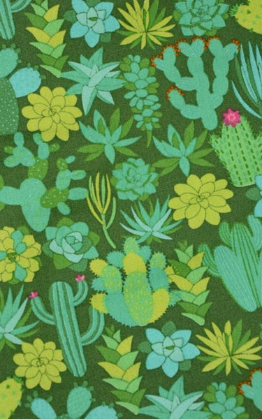 Green Cactus Print Dress by Run and Fly - Minimum Mouse
