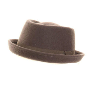 Grey Pork Pie Felt Hat - Minimum Mouse
