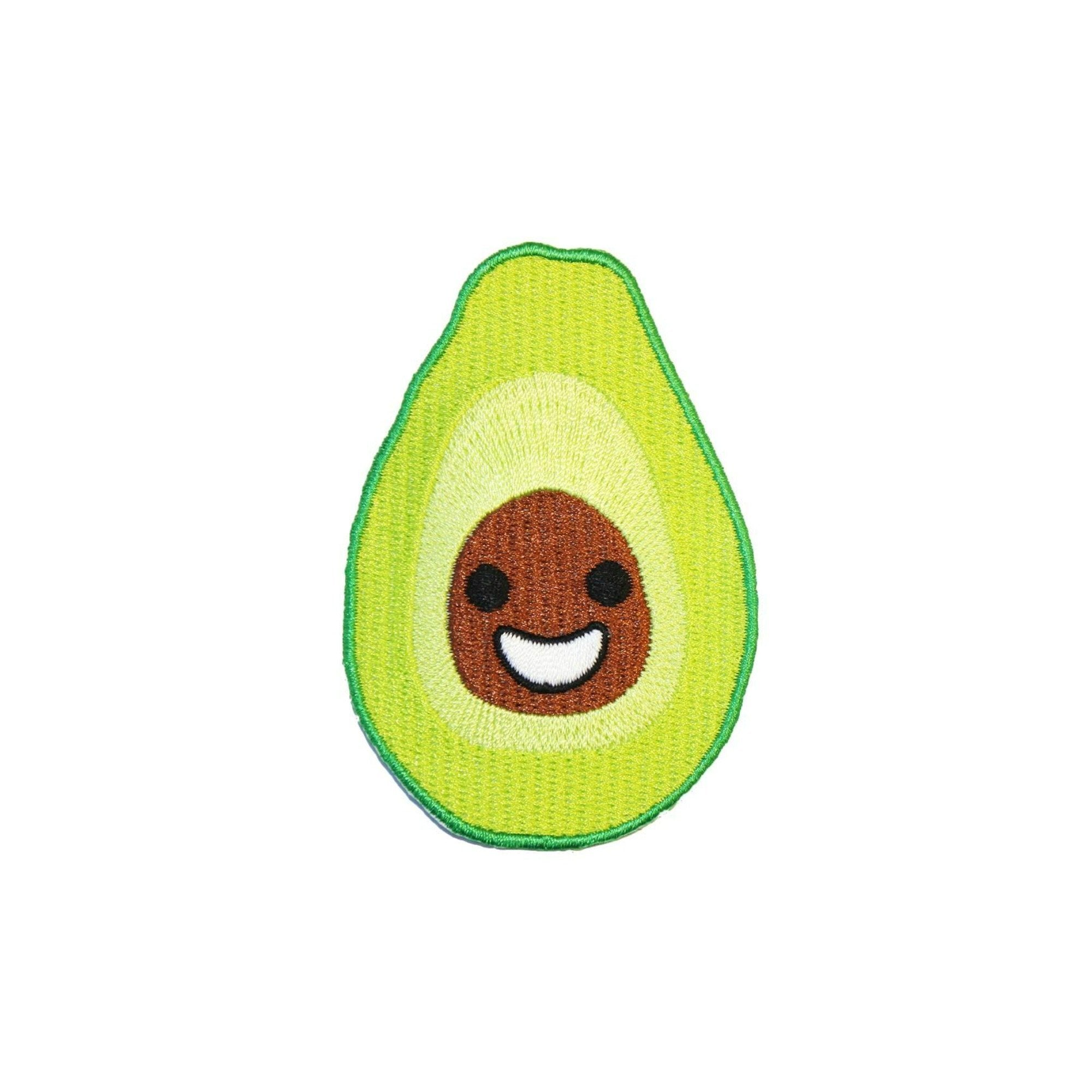 Happy Avocado Iron On Patch - Minimum Mouse