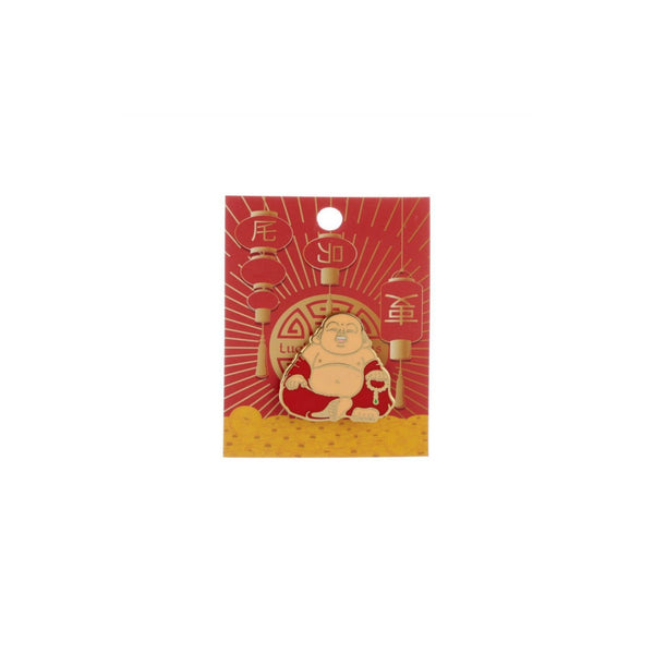 Happy Buddha Enamel Lapel Pin Badge - Minimum Mouse