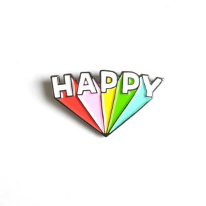 Happy Enamel Lapel Pin Badge - Minimum Mouse