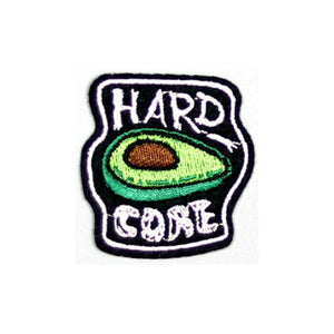 Hard Core Avocado Iron On Patch - Minimum Mouse