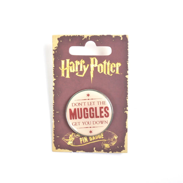 Harry Potter Don't Let The Muggles Get You Down Lapel Pin Badge - Minimum Mouse