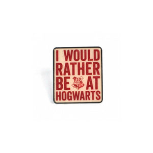 Harry Potter I Would Rather Be At Hogwarts Lapel Pin Badge - Minimum Mouse