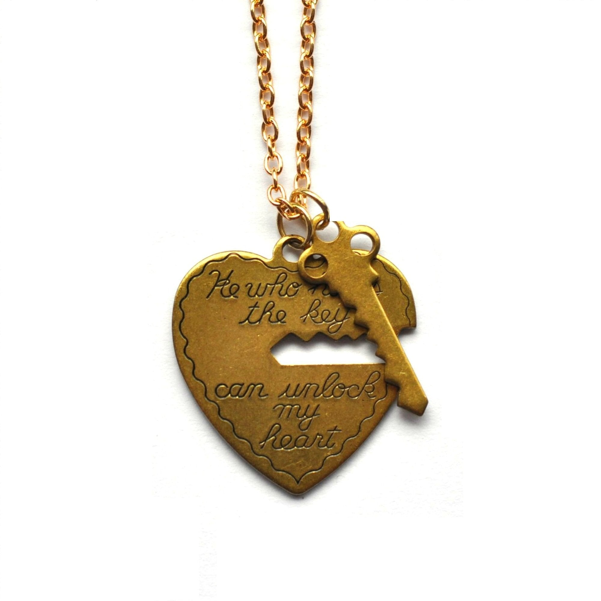He Who Holds The Key Love Heart Necklace - Minimum Mouse