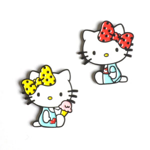 Hello Kitty Mimmy and Kitty Lapel Pin Badge Set by Punky Pins - Minimum Mouse