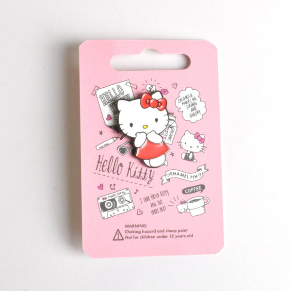 Hello Kitty Red Dress Lapel Pin Badge Set by Punky Pins - Minimum Mouse