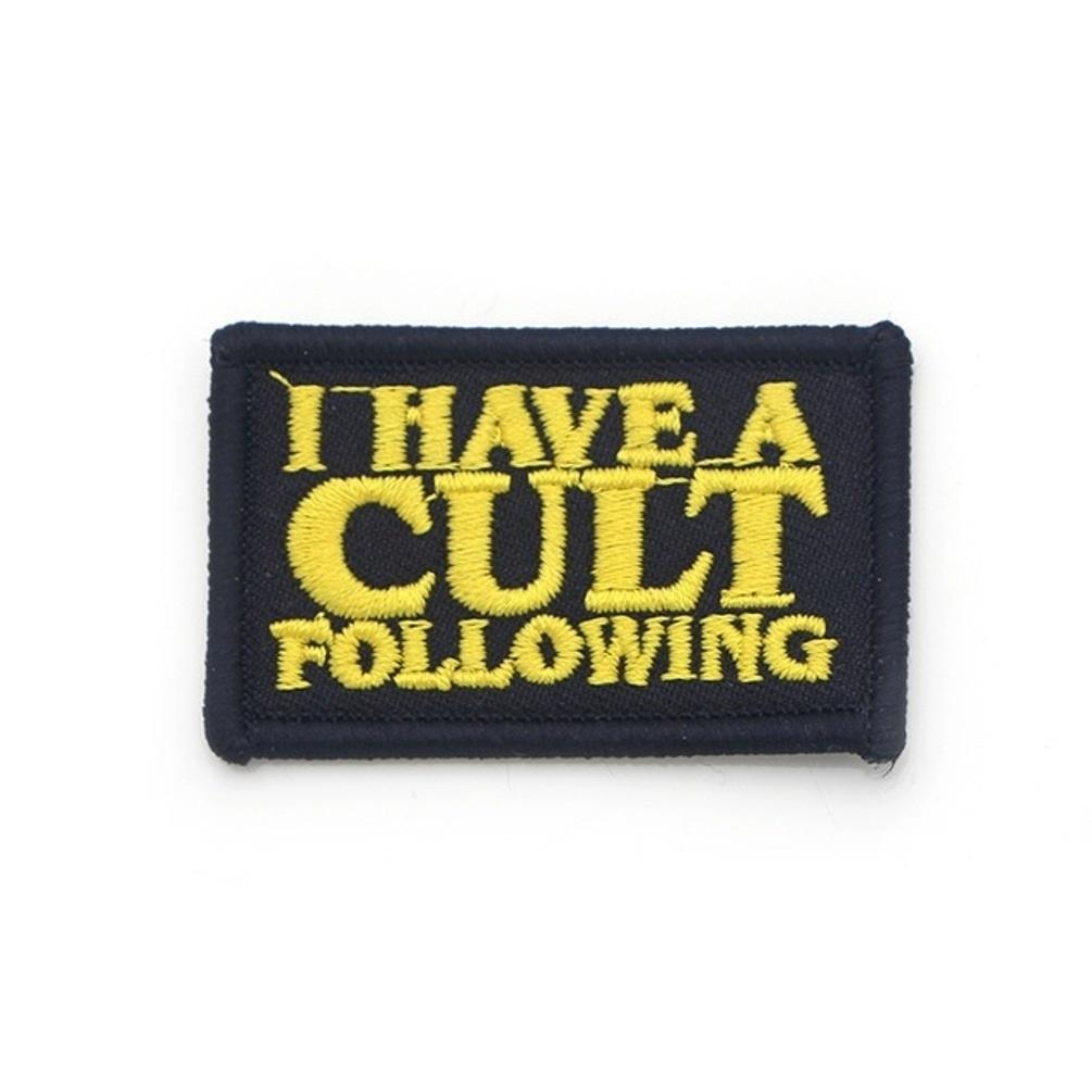 I Have A Cult Following Iron On Patch - Minimum Mouse