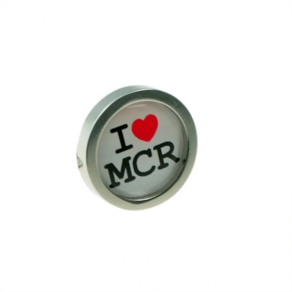 I Heart MCR Love Manchester Lapel Pin Badge - Minimum Mouse