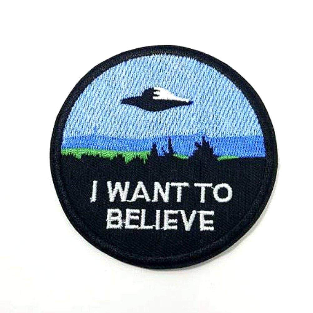 I Want To Believe X Files Iron On Space Patch - Minimum Mouse