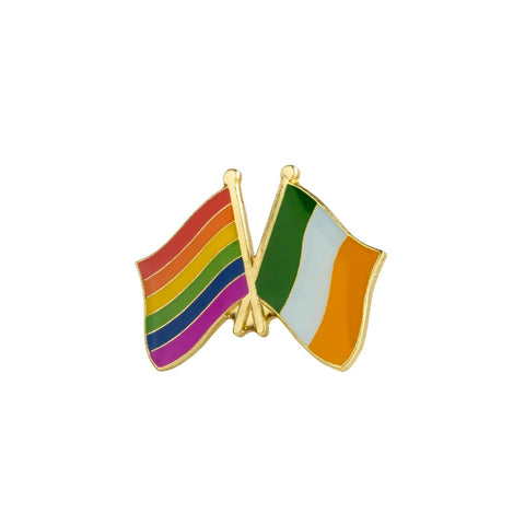 Ireland & LGBT Rainbow Flag Gay Pride Lapel Pin Badge - Minimum Mouse