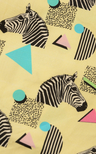 Memphis Zebra Dress by Run and Fly