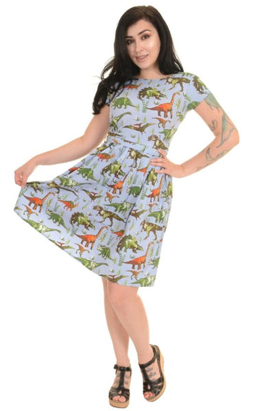 Jurassic Adventure Dinosaur Print Dress by Run and Fly - Minimum Mouse