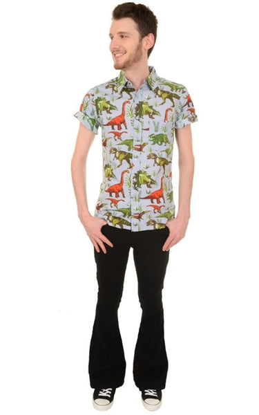 Jurassic Adventure Dinosaur Print Shirt by Run and Fly - Minimum Mouse