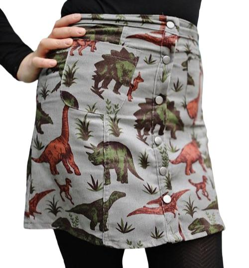 Jurassic Adventure Print Button Front Skirt by Run and Fly - Minimum Mouse