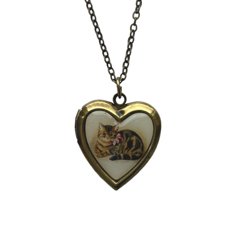 Kitten Locket Necklace by Love Boutique - Minimum Mouse