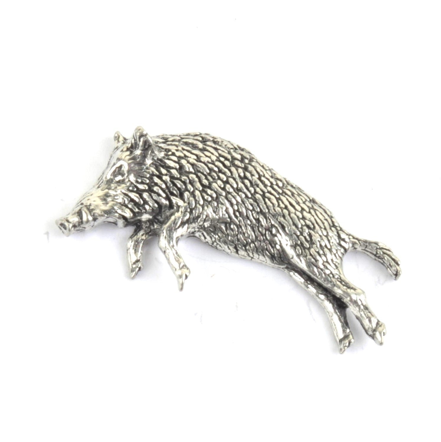 Leaping Boar Pewter Lapel Pin Badge - Minimum Mouse