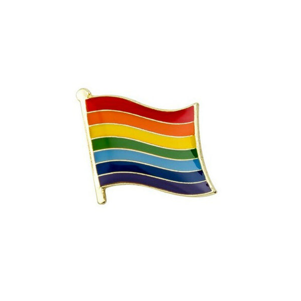 LGBT Gay Pride Rainbow Flags Enamel Lapel Pin Badge - Minimum Mouse