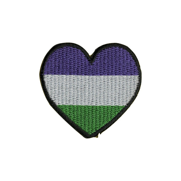 LGBT Pride Rainbow Heart Iron On Patch - Minimum Mouse