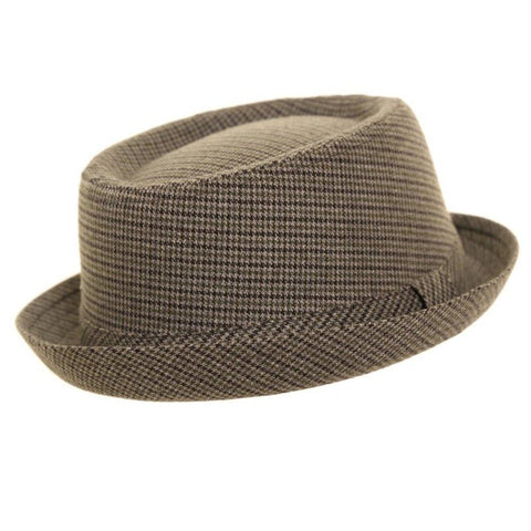 Light Grey Tweed Pork Pie Hat - Minimum Mouse