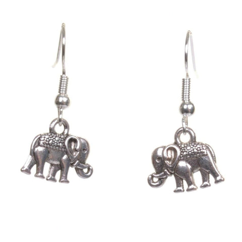 Little Silver Elephant Earrings - Minimum Mouse