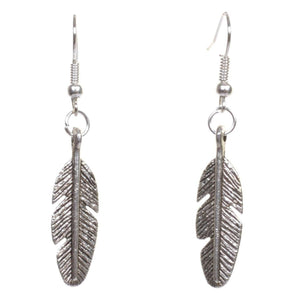 Little Silver Feather Earrings - Minimum Mouse