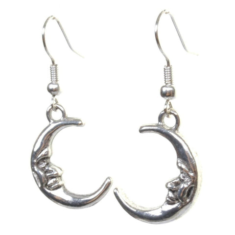 Little Silver Moon Earrings - Minimum Mouse