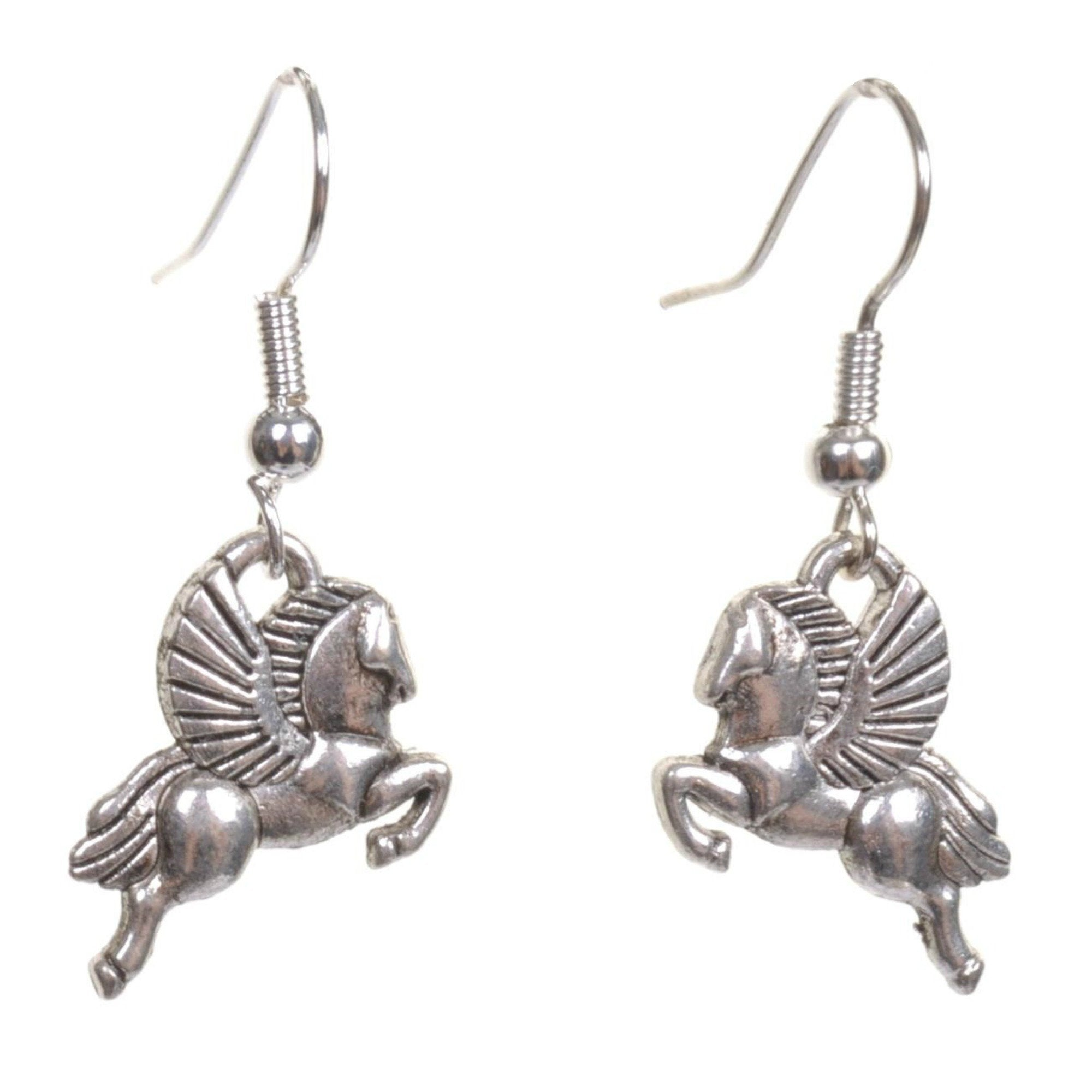 Little Silver Pegasus Earrings - Minimum Mouse