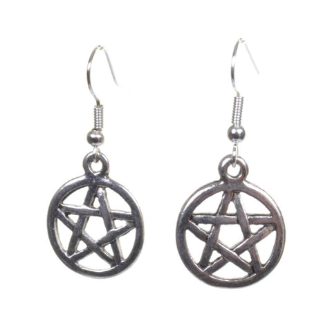 Little Silver Pentagram Earrings - Minimum Mouse