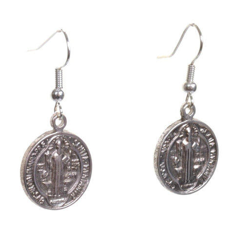Little Silver St Christopher Earrings - Minimum Mouse