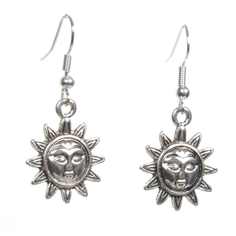 Little Silver Sun Earrings - Minimum Mouse
