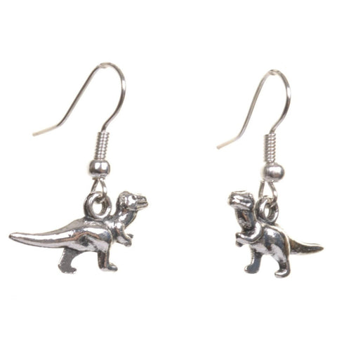 Little Silver T Rex Earrings - Minimum Mouse