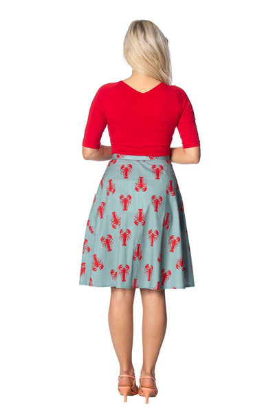 Lobster Love Skirt By Banned Apparel - Minimum Mouse