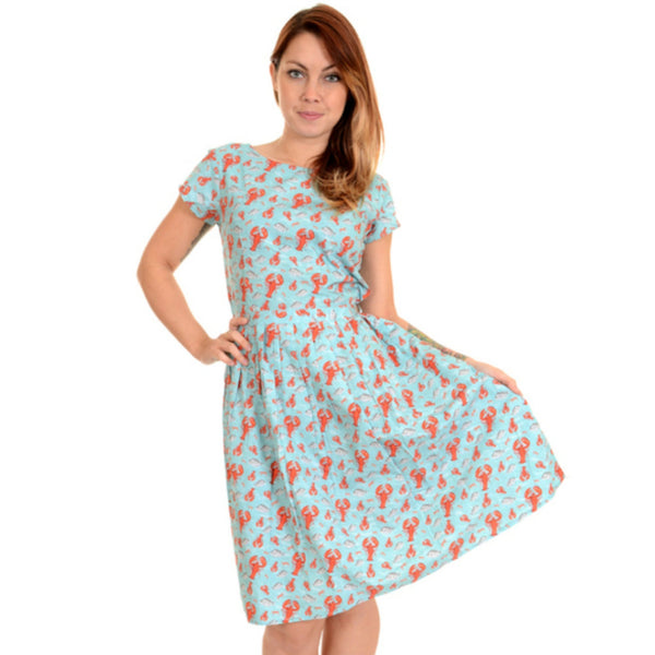 Lobster Print Dress by Run and Fly - Minimum Mouse