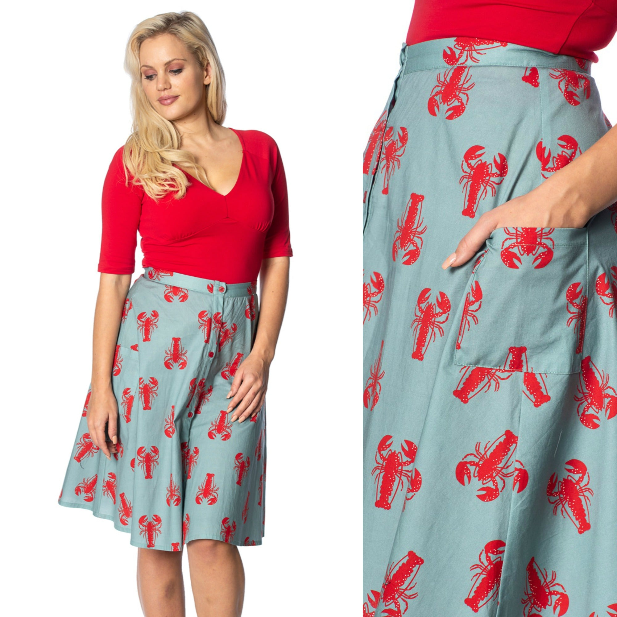 Lobster Love Skirt By Banned Apparel