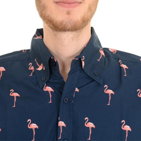 Long Sleeve Flamingo Print Shirt by Run and Fly - Minimum Mouse