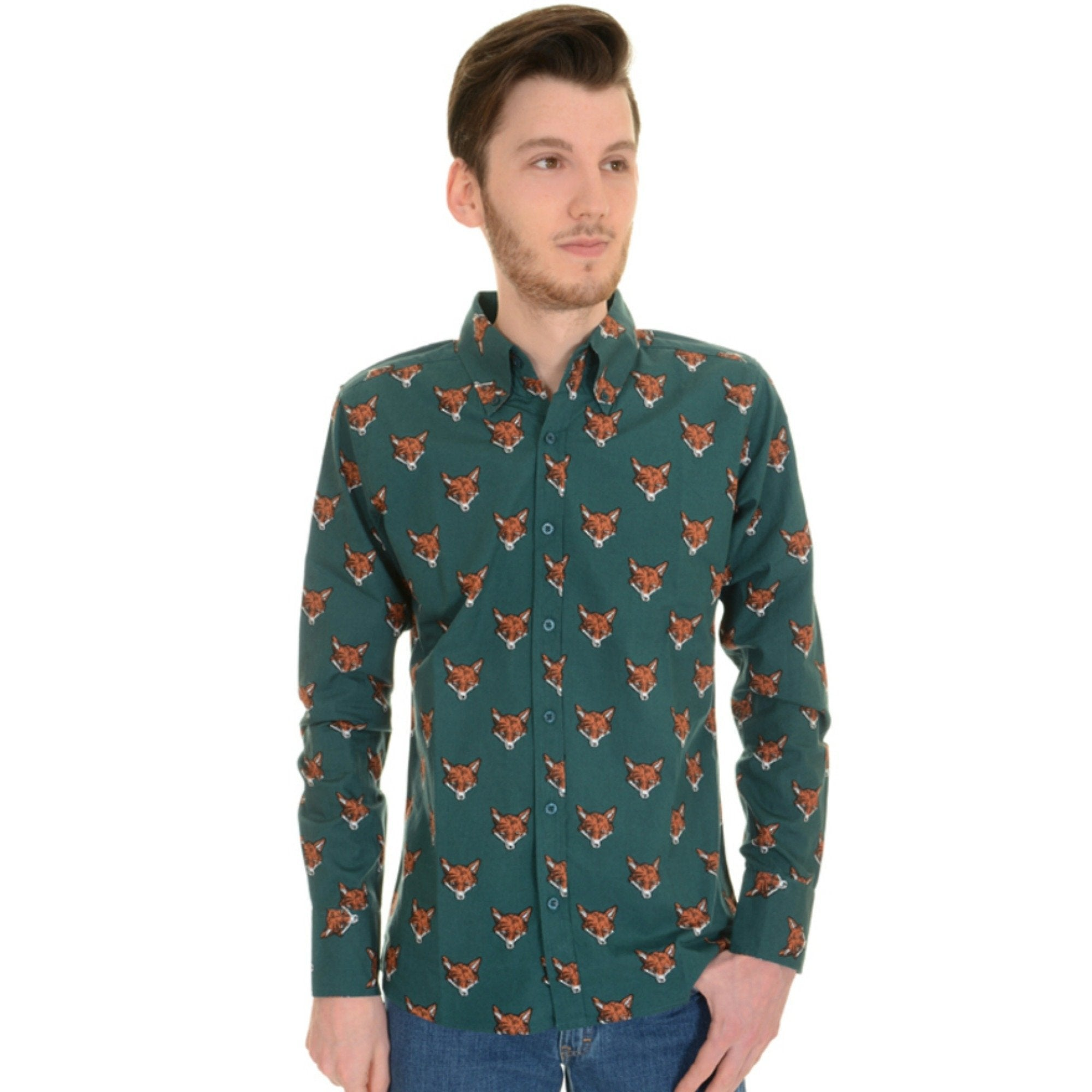 Long Sleeve Fox Print Shirt by Run and Fly - Minimum Mouse