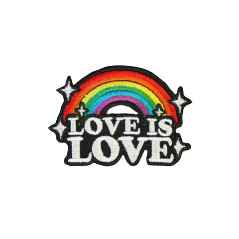 Love Is Love LGBT Rainbow Iron On Patch - Minimum Mouse